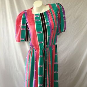 Vintage Late 80s Young Traditions Mid-Length Dress